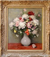 pivones roses et rouges [sold] by marcel dyf